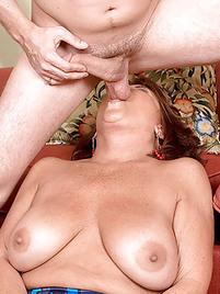 Granny licking balls